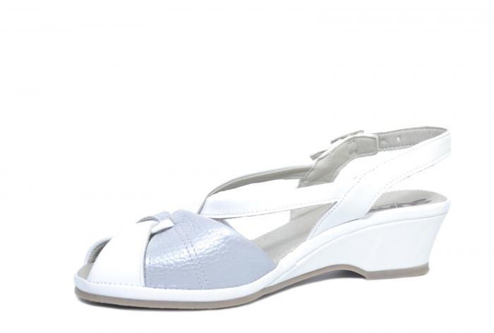 Sandale Piele Naturala Albe Silvia 2