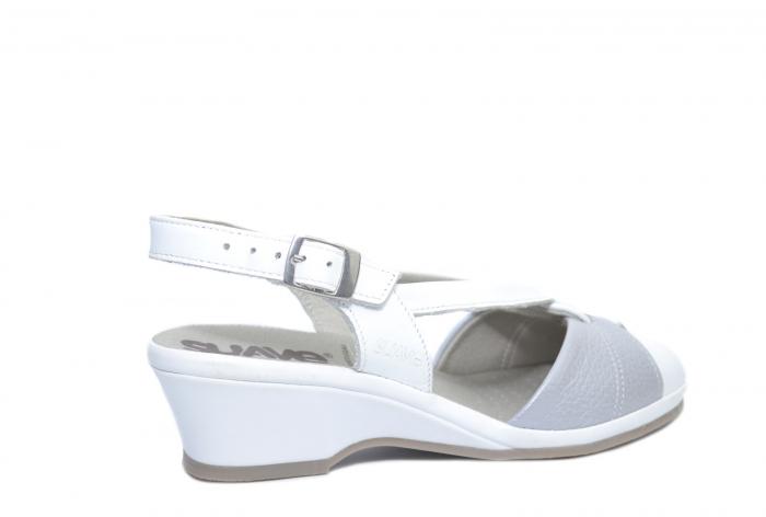 Sandale Piele Naturala Albe Silvia 3