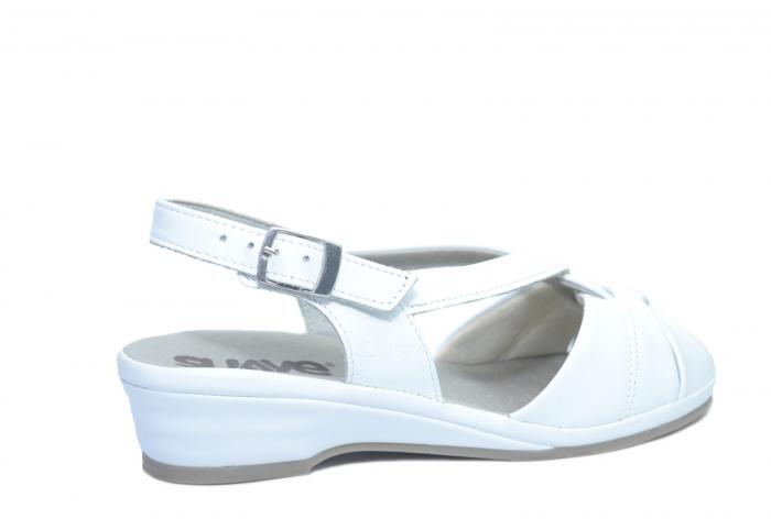Sandale Piele Naturala Albe Elinda 3