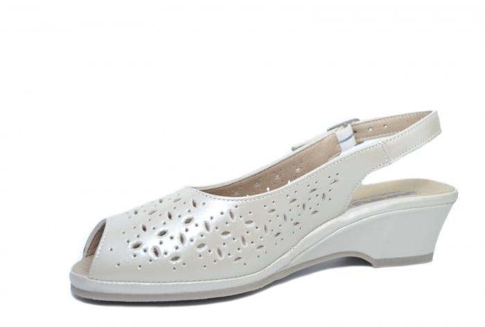 Sandale Piele Naturala Bej Amelie 2
