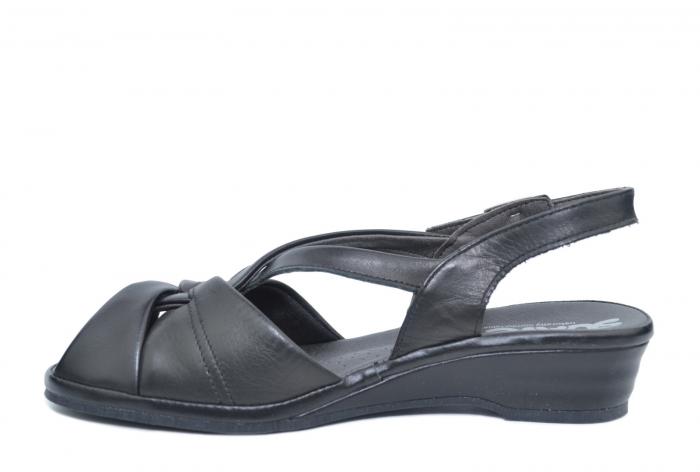 Sandale Piele Naturala Negre Lenduria 1