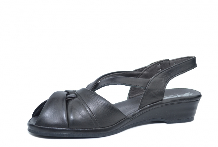 Sandale Piele Naturala Negre Lenduria 2