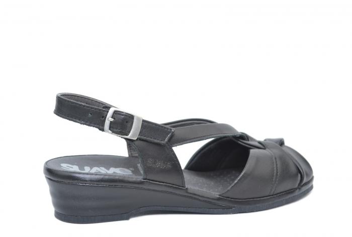 Sandale Piele Naturala Negre Lenduria 3