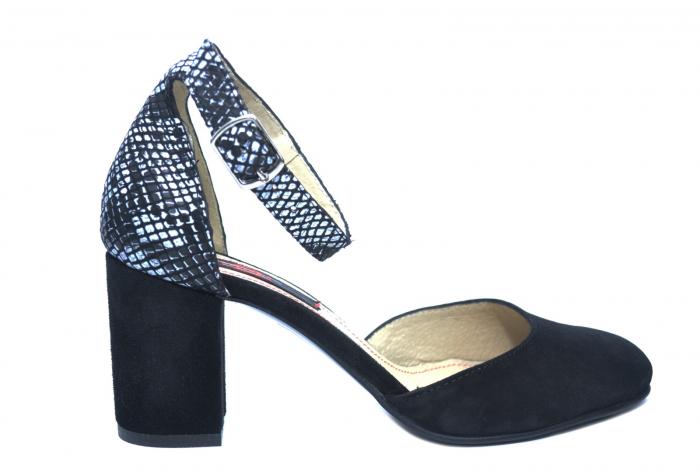 Pantofi Dama Piele Naturala Negri Fiorella D02209 0
