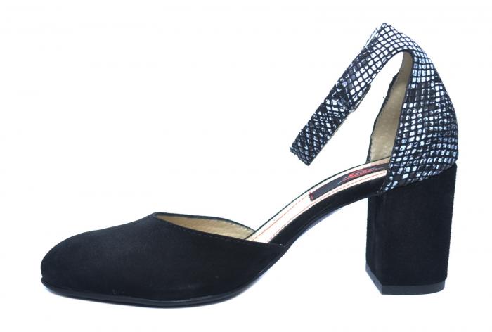 Pantofi Dama Piele Naturala Negri Fiorella D02209 1