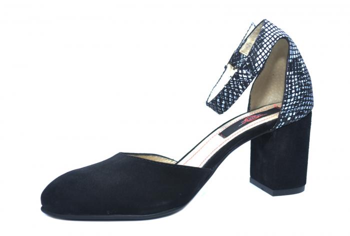 Pantofi Dama Piele Naturala Negri Fiorella D02209 2