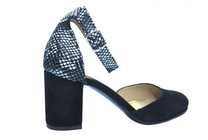 Pantofi Dama Piele Naturala Negri Fiorella D02209 3