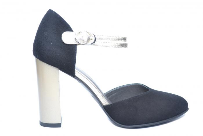 Pantofi Dama Piele Naturala Negri Roksana D02229 [0]