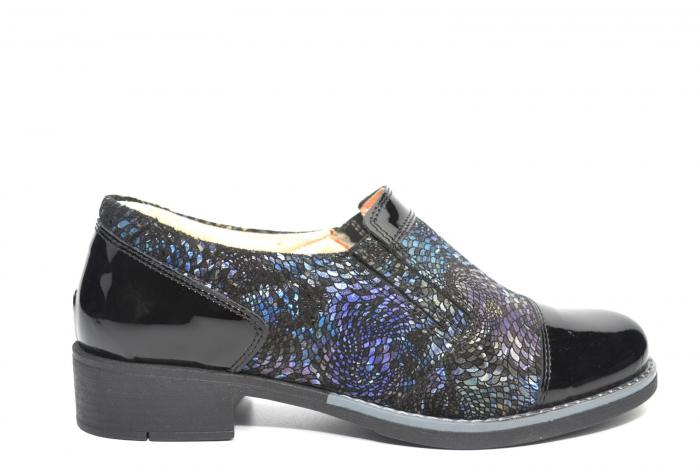 Pantofi Casual Piele Naturala Neagra Lucille D02224 0