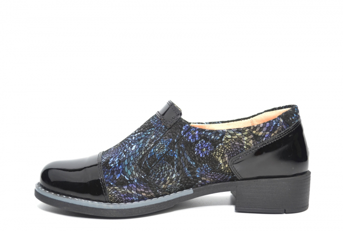 Pantofi Casual Piele Naturala Neagra Lucille D02224 1