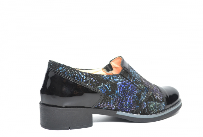 Pantofi Casual Piele Naturala Neagra Lucille D02224 3