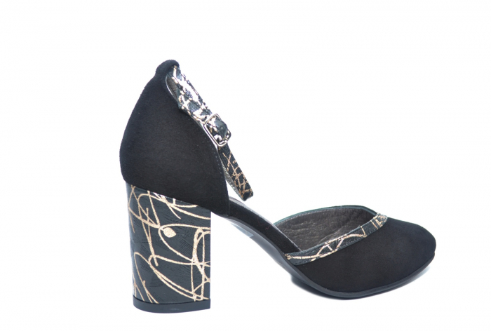Pantofi Dama Piele Naturala Negri Barbara D02227 3