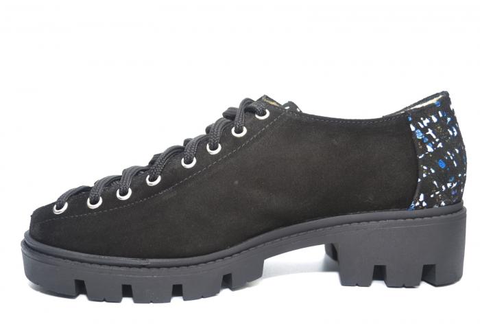 Pantofi Casual Piele Naturala Neagra Sofia D02223 1