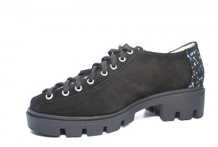 Pantofi Casual Piele Naturala Neagra Sofia D02223 2