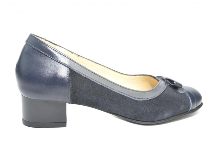 Pantofi cu toc Piele Naturala Bleumarin Marcella D02217 0