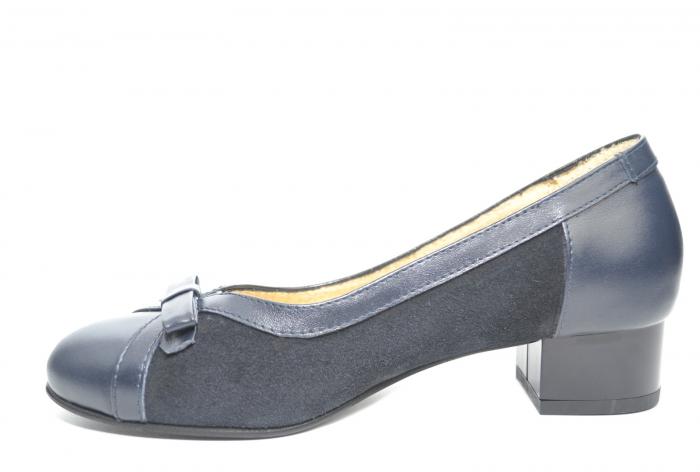 Pantofi cu toc Piele Naturala Bleumarin Marcella D02217 1