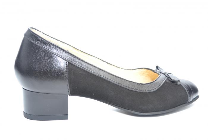 Pantofi cu toc Piele Naturala Negri Marcella D02218 0