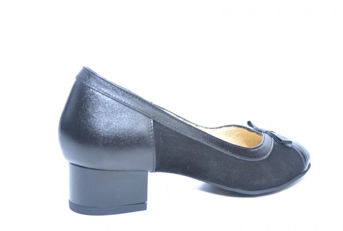 Pantofi cu toc Piele Naturala Negri Marcella D02218 3