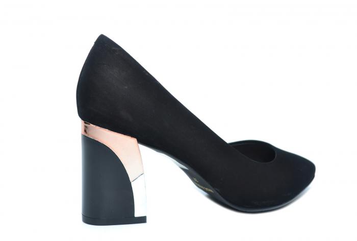Pantofi cu toc Piele Naturala Negri Epica Lucille D02235 3