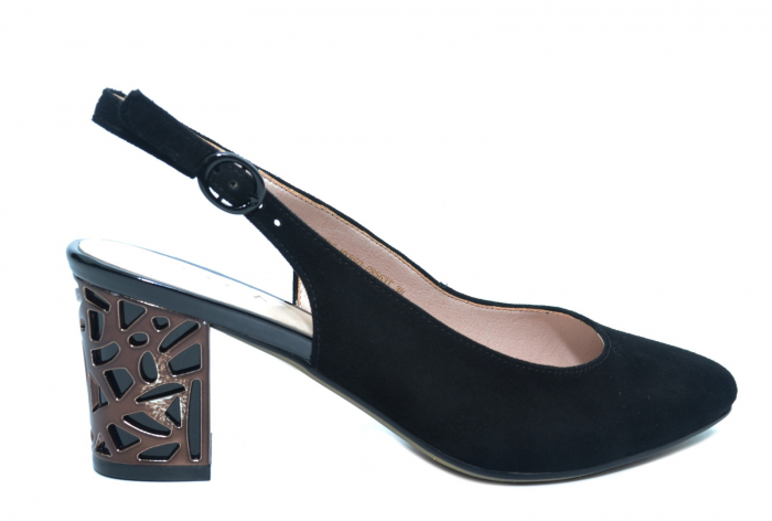 Pantofi Dama Piele Naturala Negri Epica Marielle D02239 0