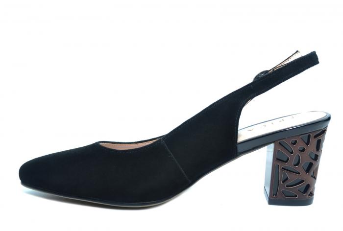 Pantofi Dama Piele Naturala Negri Epica Marielle D02239 1