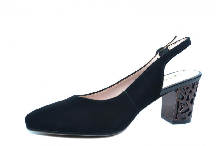 Pantofi Dama Piele Naturala Negri Epica Marielle D02239 2