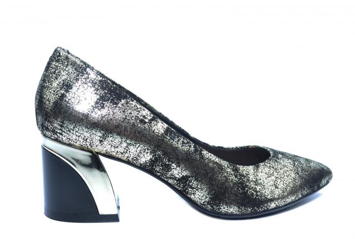Pantofi cu toc Piele Naturala Negri Epica Alva D02238 0