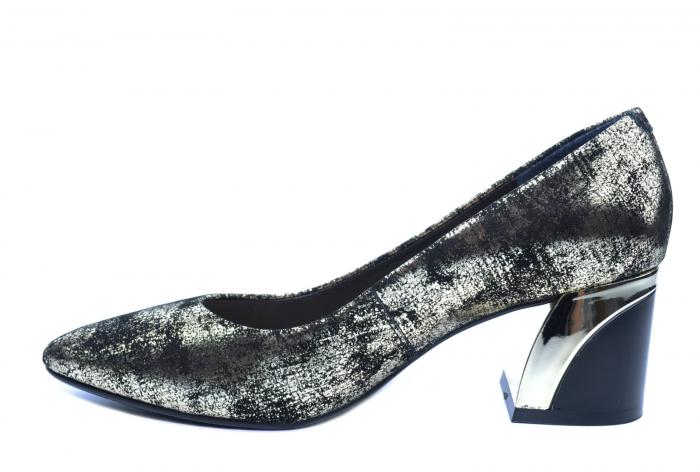 Pantofi cu toc Piele Naturala Negri Epica Alva D02238 1