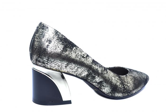 Pantofi cu toc Piele Naturala Negri Epica Alva D02238 3