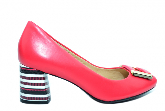 Pantofi cu toc Piele Naturala Roz Epica Liana D02237 0