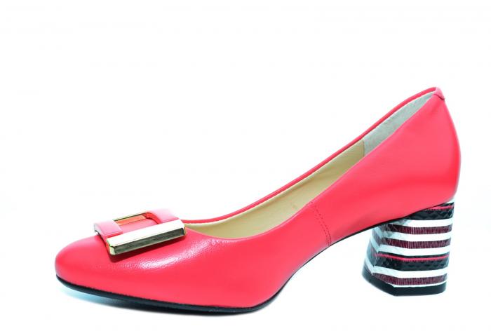 Pantofi cu toc Piele Naturala Roz Epica Liana D02237 2