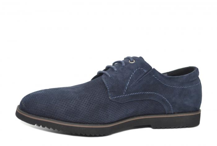 Pantofi Casual Barbati Piele Naturala Bleumarin Otter Damian B00028 2