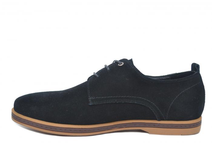 Pantofi Casual Barbati Piele Naturala Negri Otter Alex [1]