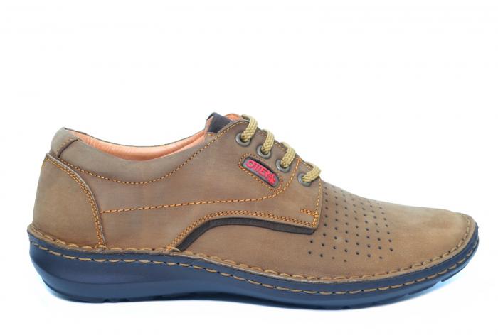 Pantofi Casual Barbati Piele Naturala Maro Otter Decebal B00036 [0]