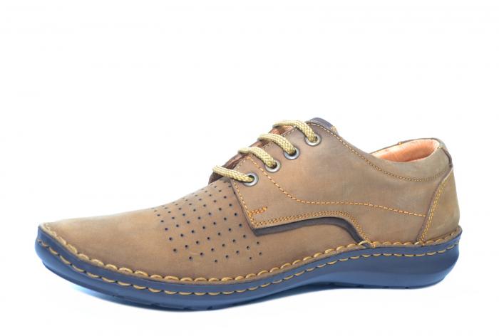 Pantofi Casual Barbati Piele Naturala Maro Otter Decebal B00036 [2]