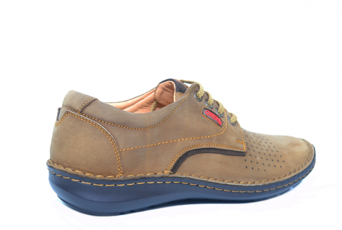 Pantofi Casual Barbati Piele Naturala Maro Otter Decebal B00036 [3]