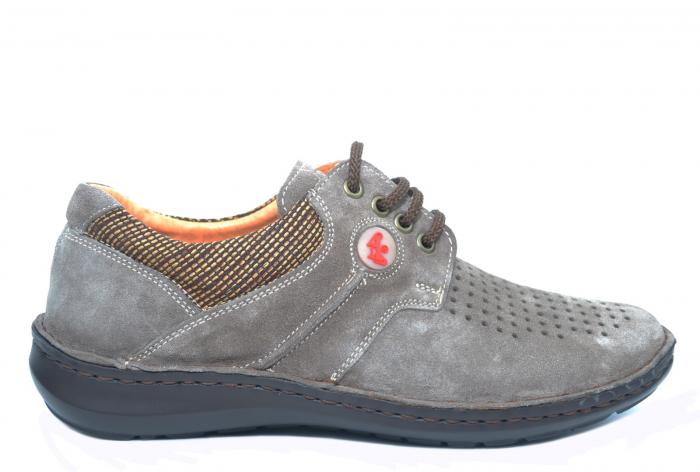 Pantofi Casual Barbati Piele Naturala Gri Haralambie B00040 0
