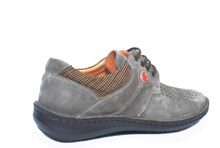 Pantofi Casual Barbati Piele Naturala Gri Haralambie B00040 3