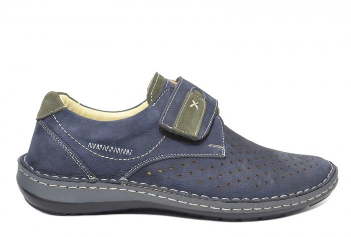 Pantofi Dama Piele Naturala Bleumarin Otter Erasmus B00044 0