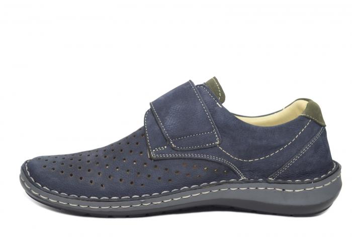 Pantofi Dama Piele Naturala Bleumarin Otter Erasmus B00044 1