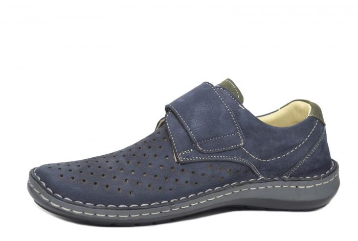 Pantofi Dama Piele Naturala Bleumarin Otter Erasmus B00044 2