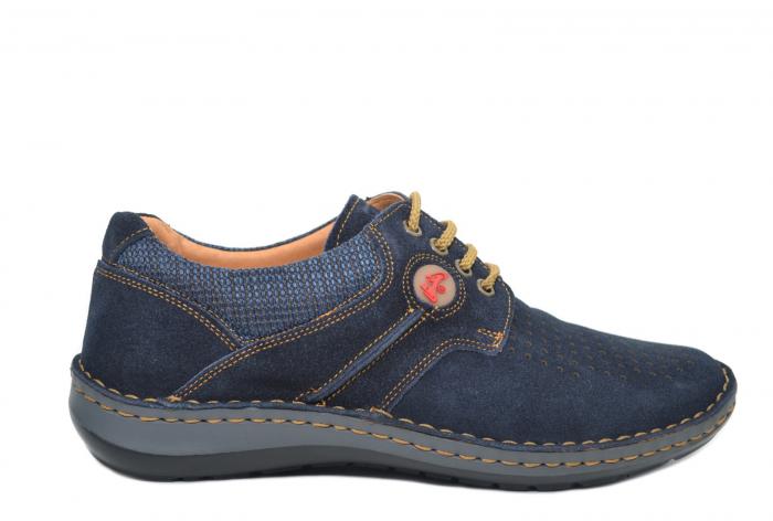 Pantofi Casual Barbati Piele Naturala Bleumarin Otter Eddy B00041 0