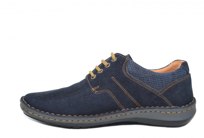 Pantofi Casual Barbati Piele Naturala Bleumarin Otter Eddy B00041 1