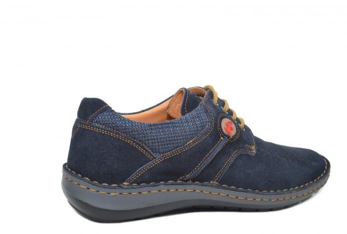 Pantofi Casual Barbati Piele Naturala Bleumarin Otter Eddy B00041 3