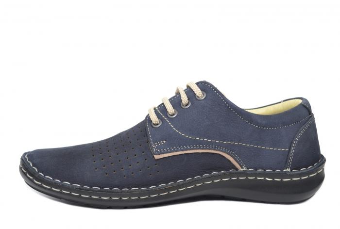 Pantofi Casual Barbati Piele Naturala Bleumarin Alexandru B00037 1