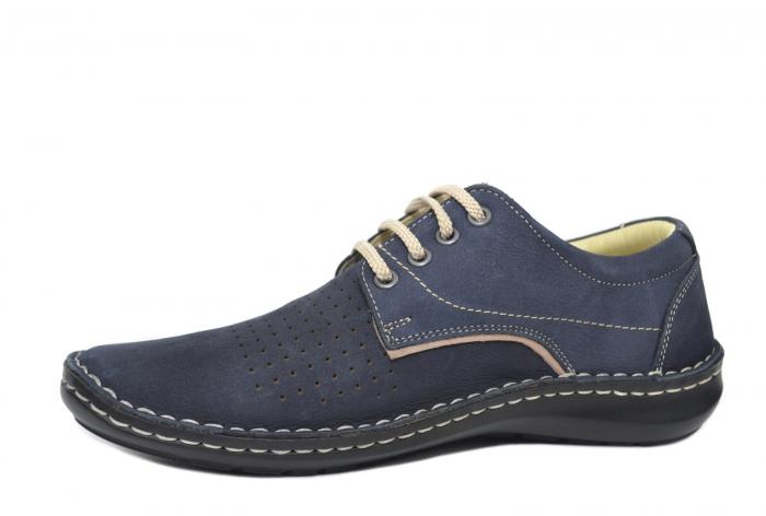 Pantofi Casual Barbati Piele Naturala Bleumarin Alexandru B00037 2