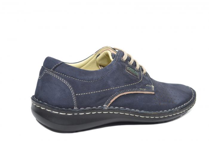 Pantofi Casual Barbati Piele Naturala Bleumarin Alexandru B00037 3