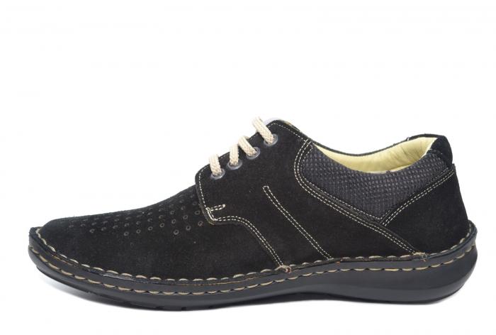 Pantofi Casual Barbati Piele Naturala Negri Otter Elton B00042 1