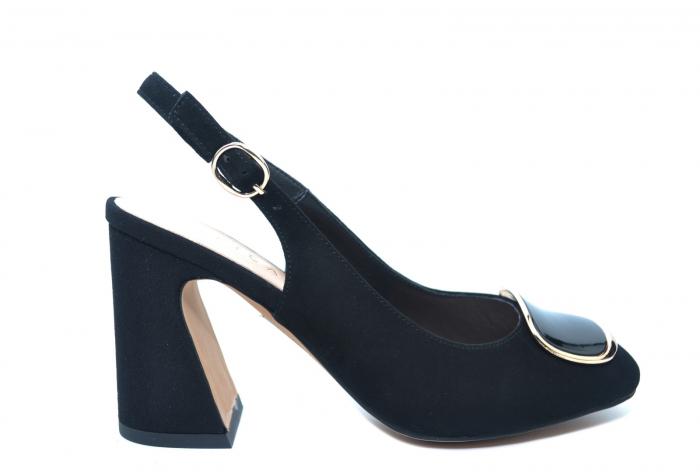 Pantofi Dama Piele Naturala Negri Epica Catinca D02250 0
