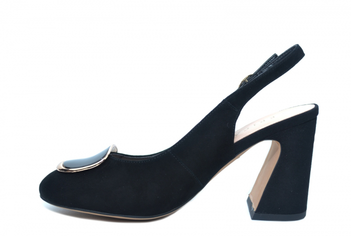 Pantofi Dama Piele Naturala Negri Epica Catinca D02250 1